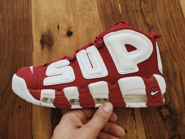supreme nike air more uptempo red hype sneaker