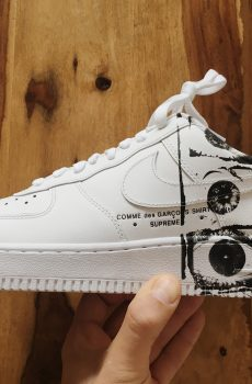 comme des garcon sneaker supreme nike air force 1