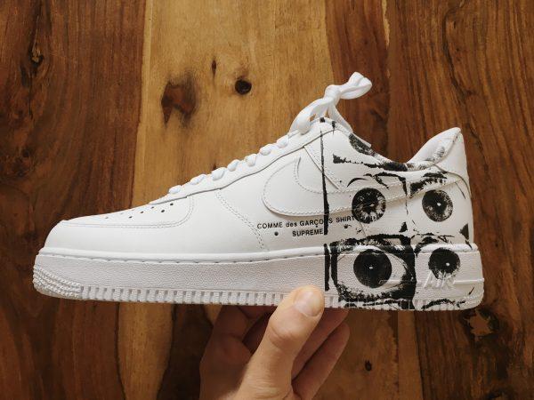 comme des garcon sneaker supreme nike air force 1